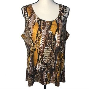 Travel Elements Snakeskin Print Tank Top